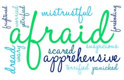 Afraid Word Cloud. On a white background Stock Photo