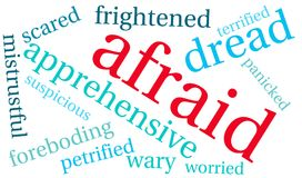 Afraid Word Cloud. On a white background Stock Photos