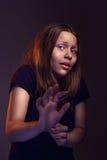 Afraided teen girl Royalty Free Stock Photography
