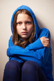 Afraided teen girl Royalty Free Stock Photo