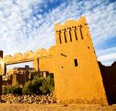 afric a w Morocco stary contruction i dziejowa wioska Obrazy Stock
