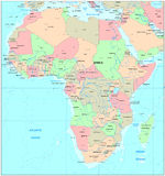 africa översikt Arkivfoton
