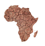 Africa. Continent with arid earth royalty free stock photos