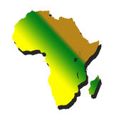 Africa. Continenet filled with gradient Stock Images
