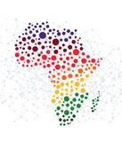 Africa abstract background with dot connection. On white royalty free illustration