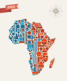 Africa abstract map Stock Images