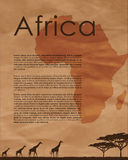 Africa Abstract Map Royalty Free Stock Image