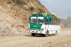 Africa. N bus along the road from Arba Minch to Dorze, Ethiopia Royalty Free Stock Photo