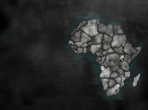 Africa African Continent map in colorful chalkboard style with C Royalty Free Stock Images