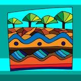 Africa. N landscape in vector illustration Royalty Free Stock Image