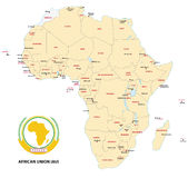 Africa (African Union) map Royalty Free Stock Image