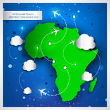 Africa air travel abstract background Royalty Free Stock Images