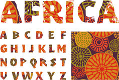 Africa - alphabet and pattern Stock Photo