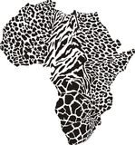 Africa in a animal camouflage Stock Images