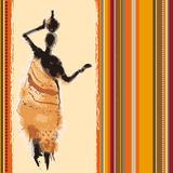 Africa background. Beautiful background with illustrated abstract African woman Royalty Free Stock Images
