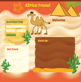 Africa Background for travel website Stock Image