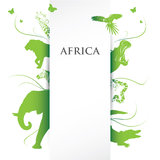 Africa banner Royalty Free Stock Photo