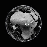 Africa on black Earth Stock Photo