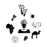 The africa black Royalty Free Stock Photo