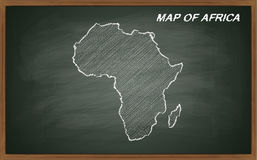 Africa on blackboard Royalty Free Stock Photography