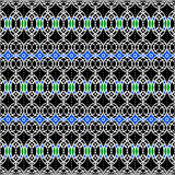Africa blue pattern Royalty Free Stock Image