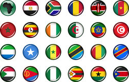 Africa Button Set Royalty Free Stock Image