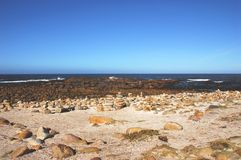Africa- Cape of Good Hope, Stones Piled by Tourists royalty free stock photos