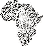 Africa in a cheetah camouflage Royalty Free Stock Image