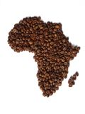 Africa in coffee Royalty Free Stock Photos