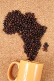 Africa from coffee beans Royalty Free Stock Image