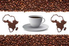 Africa and coffee Stock Photography