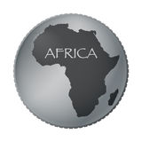 Africa Coin Stock Photo
