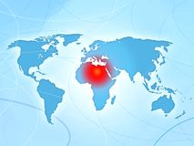 Africa conflict disorder news map Royalty Free Stock Photography