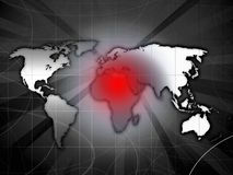 Africa conflict map Stock Photos