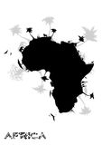 Africa continent. The silhouette of Africa in the vectors Royalty Free Stock Photography