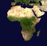 Africa, Continent, Aerial View Royalty Free Stock Photography