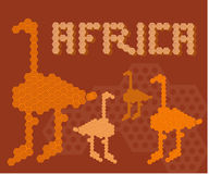 Africa continent animal adventure land people concept Royalty Free Stock Image