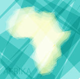 Africa continent on a blue background Royalty Free Stock Image