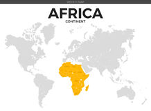 Africa continent Location Map Stock Images