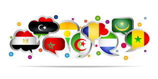 Africa countries bubble speech shapes. Set 1 Stock Images