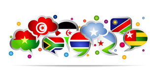 Africa countries bubble speech shapes. Set 2 Stock Photo