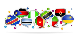 Africa countries bubble speech shapes. Set 3 Stock Image