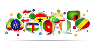 Africa countries bubble speech shapes. Set 4 Stock Images