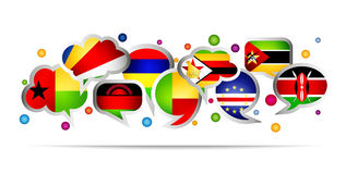 Africa countries bubble speech shapes. Set 5 Royalty Free Stock Images