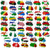 Africa countries flag blots Stock Photography