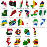 Africa countries flag maps Part2 Royalty Free Stock Photography