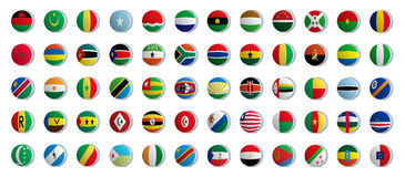 Africa Country flags Stock Photos