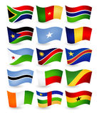 Africa country flying flags set part 2 Stock Image