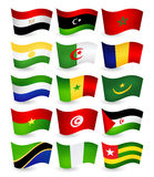 Africa country flying flags set part 1 Stock Photography