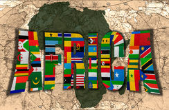 Africa, the Dark Continent Stock Photography